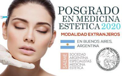 Posgrado en Medicina Estética en BUENOS AIRES (Octubre 2020) – Modalidad Extranjeros