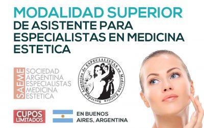 Modalidad Superior de Asistente para Especialistas en Medicina Estética